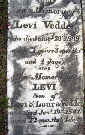 VEDDER, LEVI - Schenectady County, New York | LEVI VEDDER - New York Gravestone Photos