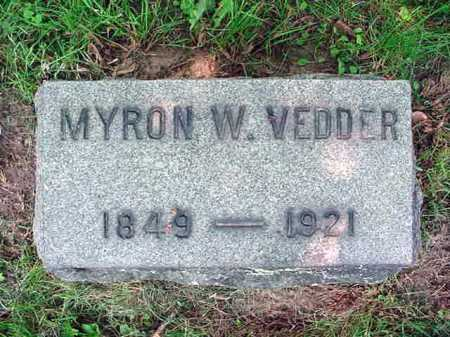 VEDDER, MYRON W - Schenectady County, New York | MYRON W VEDDER - New York Gravestone Photos