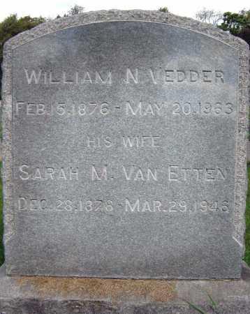 VEDDER, WILLIAM N - Schenectady County, New York | WILLIAM N VEDDER - New York Gravestone Photos