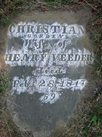 GORDEN VEEDER, CHRISTIANE - Schenectady County, New York | CHRISTIANE GORDEN VEEDER - New York Gravestone Photos