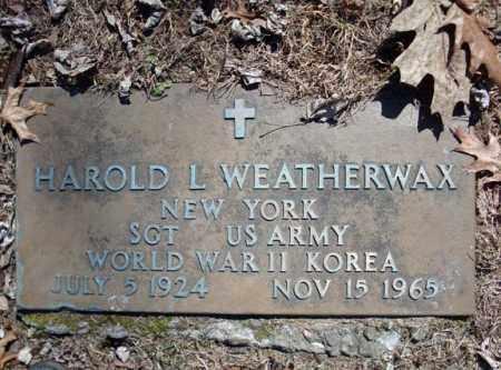 WEATHERWAX, HAROLD L - Schenectady County, New York   HAROLD L WEATHERWAX - New York Gravestone Photos