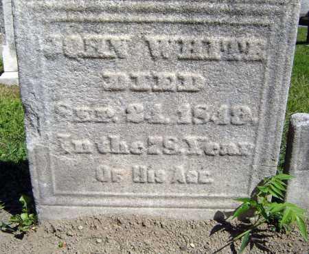 WHITE, JOHN - Schenectady County, New York | JOHN WHITE - New York Gravestone Photos
