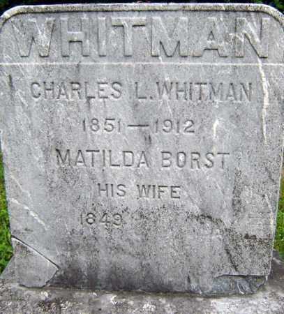 WHITMAN, MATILDA - Schenectady County, New York | MATILDA WHITMAN - New York Gravestone Photos
