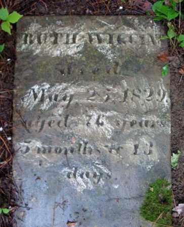WIGGINS, RUTH - Schenectady County, New York | RUTH WIGGINS - New York Gravestone Photos