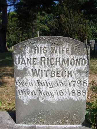 RICHMOND WITBECK, JANE - Schenectady County, New York | JANE RICHMOND WITBECK - New York Gravestone Photos