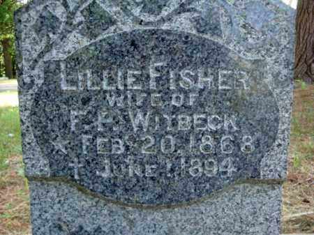 FISHER WITBECK, LILLIE - Schenectady County, New York | LILLIE FISHER WITBECK - New York Gravestone Photos
