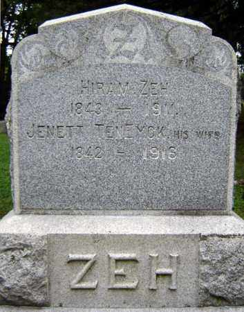 ZEH, JENETT - Schenectady County, New York | JENETT ZEH - New York Gravestone Photos