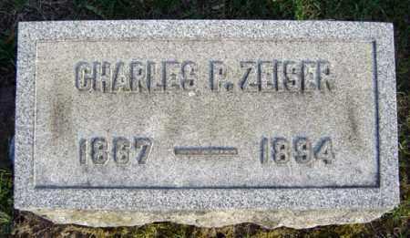 ZEISER, CHARLES P - Schenectady County, New York | CHARLES P ZEISER - New York Gravestone Photos