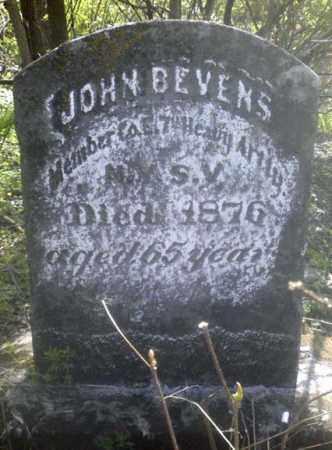 BEVENS (CW), JOHN - Schoharie County, New York | JOHN BEVENS (CW) - New York Gravestone Photos