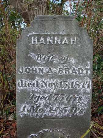 BRADT, HANNAH - Schoharie County, New York | HANNAH BRADT - New York Gravestone Photos