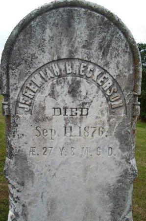 ECKERSON, JEREMIAH B - Schoharie County, New York | JEREMIAH B ECKERSON - New York Gravestone Photos