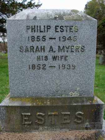 MYERS ESTES, SARAH A - Schoharie County, New York | SARAH A MYERS ESTES - New York Gravestone Photos