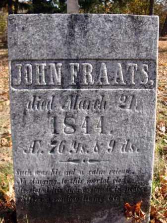 FRAATS, JOHN - Schoharie County, New York | JOHN FRAATS - New York Gravestone Photos