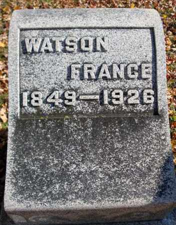 FRANCE, WATSON - Schoharie County, New York | WATSON FRANCE - New York Gravestone Photos