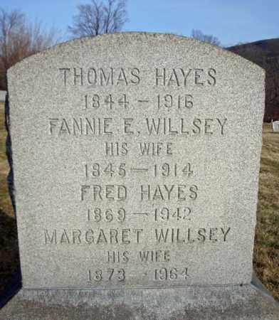 HAYES, FANNIE E - Schoharie County, New York | FANNIE E HAYES - New York Gravestone Photos