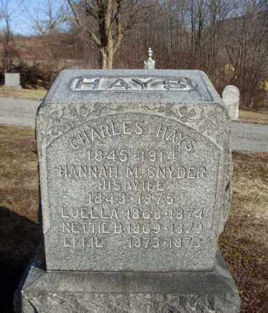 SNYDER, HANNAH M - Schoharie County, New York   HANNAH M SNYDER - New York Gravestone Photos