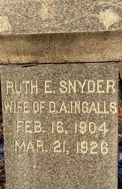 SNYDER, RUTH E - Schoharie County, New York | RUTH E SNYDER - New York Gravestone Photos