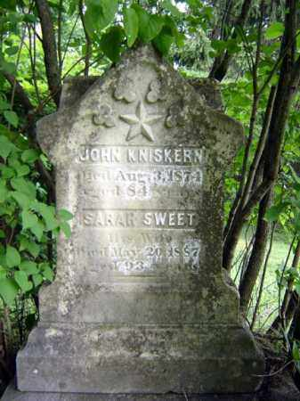 KNISKERN, SARAH - Schoharie County, New York | SARAH KNISKERN - New York Gravestone Photos