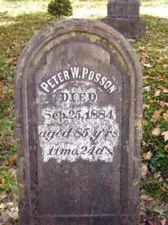 POSSON, PETER W - Schoharie County, New York | PETER W POSSON - New York Gravestone Photos