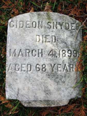SNYDER, GIDEON - Schoharie County, New York | GIDEON SNYDER - New York Gravestone Photos