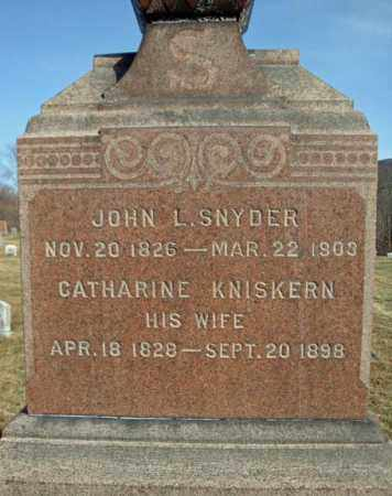 SNYDER, JOHN L - Schoharie County, New York | JOHN L SNYDER - New York Gravestone Photos