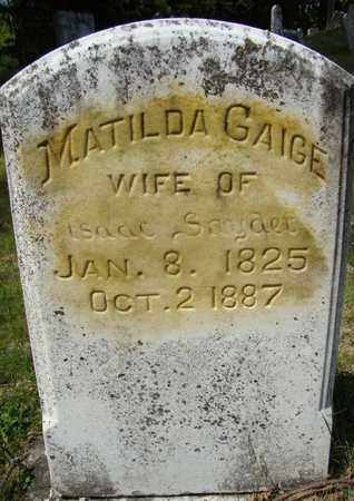 SNYDER, MATILDA - Schoharie County, New York   MATILDA SNYDER - New York Gravestone Photos