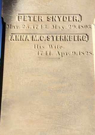 SNYDER, ANNA M.C. - Schoharie County, New York   ANNA M.C. SNYDER - New York Gravestone Photos