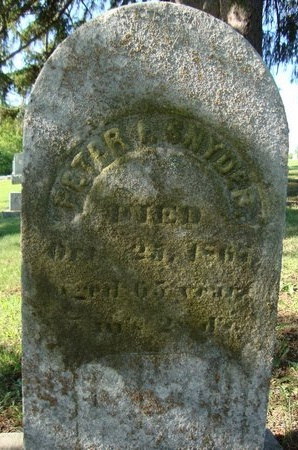 SNYDER, PETER I - Schoharie County, New York | PETER I SNYDER - New York Gravestone Photos