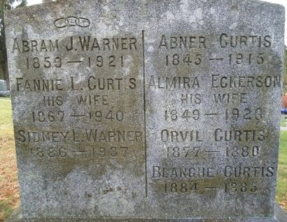 CURTIS, ABNER - Schoharie County, New York | ABNER CURTIS - New York Gravestone Photos