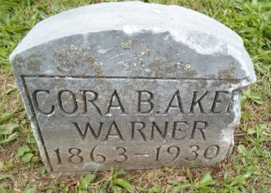 AKER WARNER, CORA B - Schoharie County, New York | CORA B AKER WARNER - New York Gravestone Photos