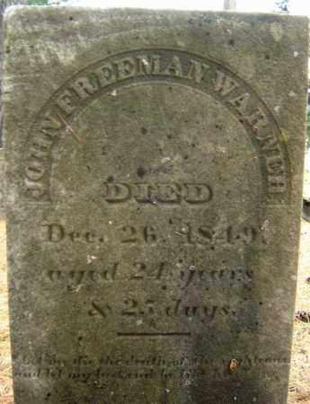WARNER, JOHN FREEMAN - Schoharie County, New York   JOHN FREEMAN WARNER - New York Gravestone Photos