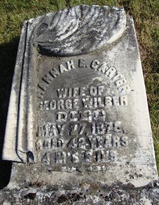 CARTER WILBER, HANNAH E - Schoharie County, New York | HANNAH E CARTER WILBER - New York Gravestone Photos