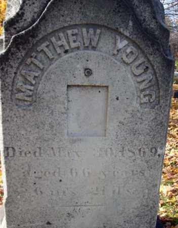 YOUNG, MATTHEW - Schoharie County, New York | MATTHEW YOUNG - New York Gravestone Photos