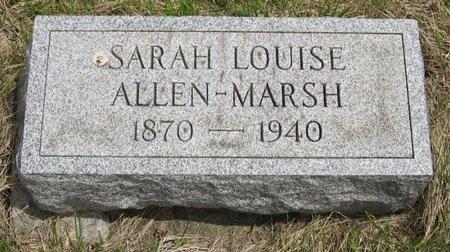 MARSH, SARAH LOUISE - Seneca County, New York   SARAH LOUISE MARSH - New York Gravestone Photos