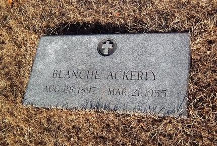 ACKERLY, BLANCHE - Suffolk County, New York | BLANCHE ACKERLY - New York Gravestone Photos