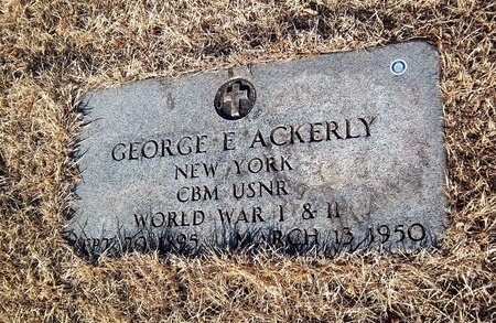 ACKERLY (WWII), GEORGE E - Suffolk County, New York | GEORGE E ACKERLY (WWII) - New York Gravestone Photos