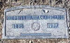 ACKERMAN, EDWIN A - Suffolk County, New York | EDWIN A ACKERMAN - New York Gravestone Photos