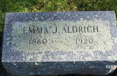 ALDRICH, EMMA J - Suffolk County, New York | EMMA J ALDRICH - New York Gravestone Photos