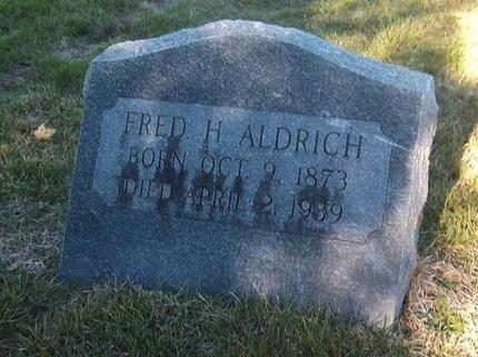ALDRICH, FRED H - Suffolk County, New York   FRED H ALDRICH - New York Gravestone Photos