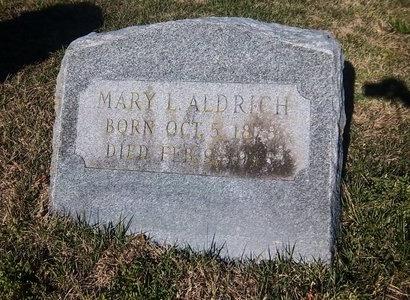 ALDRICH, MARY L - Suffolk County, New York | MARY L ALDRICH - New York Gravestone Photos