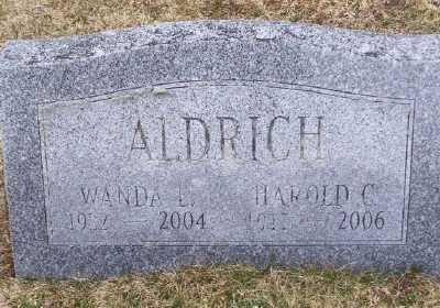 ALDRICH, HAROLD C - Suffolk County, New York | HAROLD C ALDRICH - New York Gravestone Photos