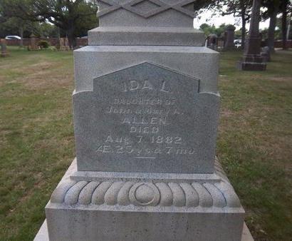 ALLEN, IDA L - Suffolk County, New York   IDA L ALLEN - New York Gravestone Photos