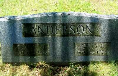 ANDERSON, ERNEST H. - Suffolk County, New York | ERNEST H. ANDERSON - New York Gravestone Photos