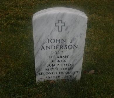 ANDERSON (KOR), JOHN J - Suffolk County, New York   JOHN J ANDERSON (KOR) - New York Gravestone Photos