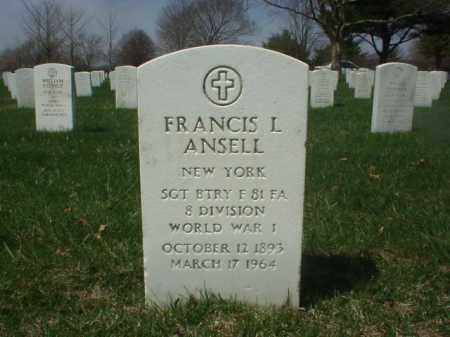 ANSELL (WWI), FRANCIS L - Suffolk County, New York   FRANCIS L ANSELL (WWI) - New York Gravestone Photos