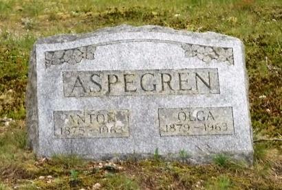 ASPEGREN, OLGA - Suffolk County, New York | OLGA ASPEGREN - New York Gravestone Photos
