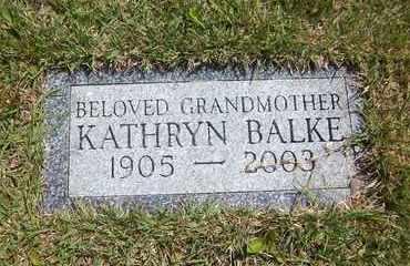 BALKE, KATHRYN - Suffolk County, New York | KATHRYN BALKE - New York Gravestone Photos