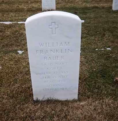BAUER, WILLIAM FRANKLIN - Suffolk County, New York | WILLIAM FRANKLIN BAUER - New York Gravestone Photos