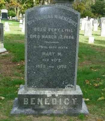 BENEDICT, MARY M. - Suffolk County, New York | MARY M. BENEDICT - New York Gravestone Photos