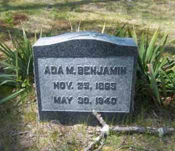 BENJAMIN, ADA M - Suffolk County, New York   ADA M BENJAMIN - New York Gravestone Photos